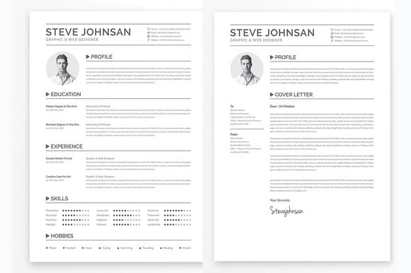 Clean Resume Template Template, Business resume and Simple resume - clean resume design
