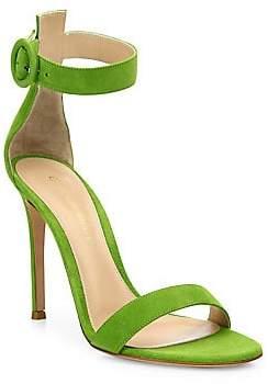 215ef84481 Gianvito Rossi Women's Portofino Suede Ankle-Strap Sandals ...