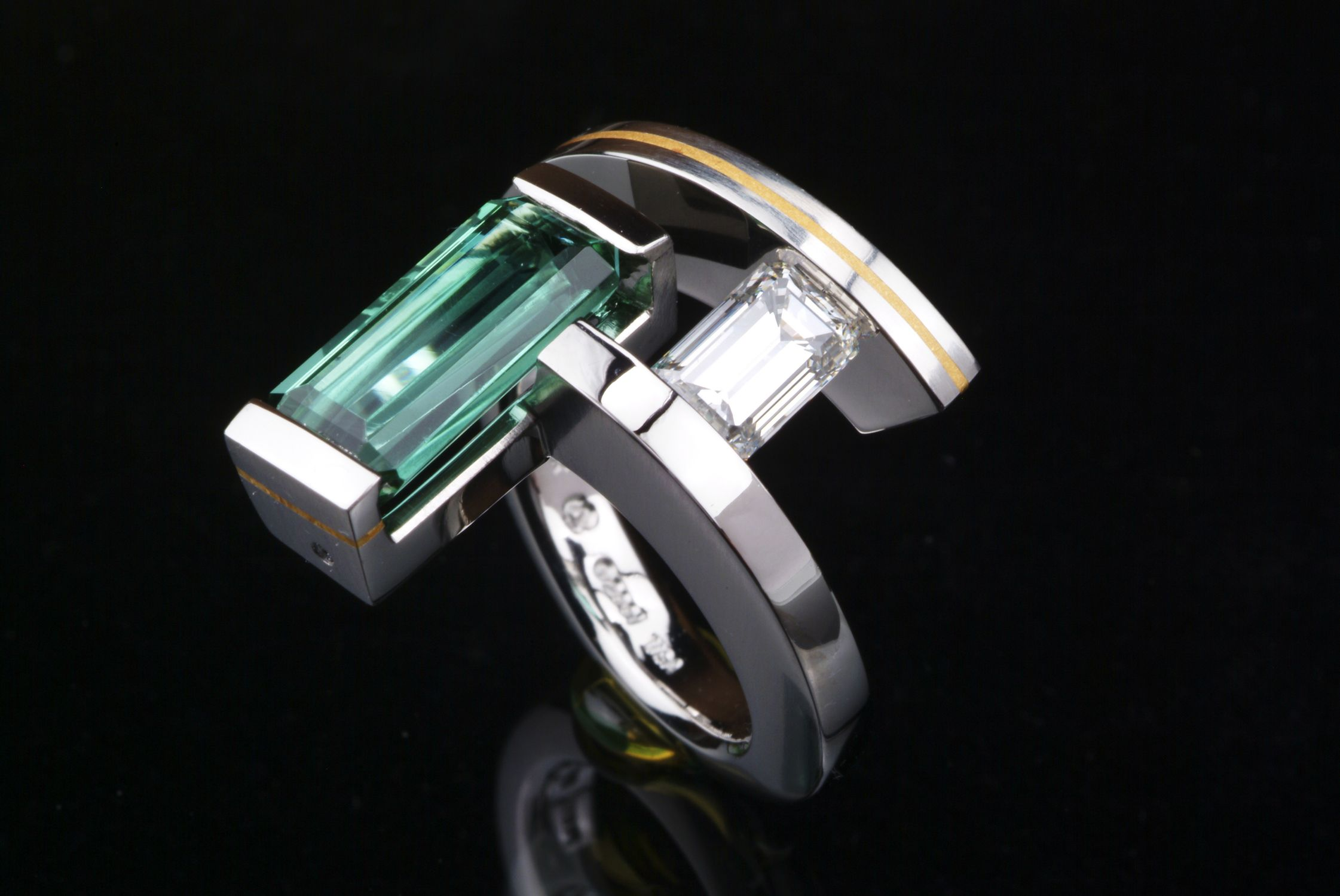 Steven Kretchmer's one-of-a-kind 2(Stone) ring; new description coming soon!