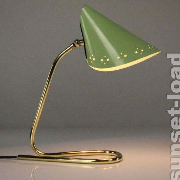 Vintage Schlaufenfu Messing Lampe mit Sternenhimmel T te alte er Jahre Lampe vintage eBay