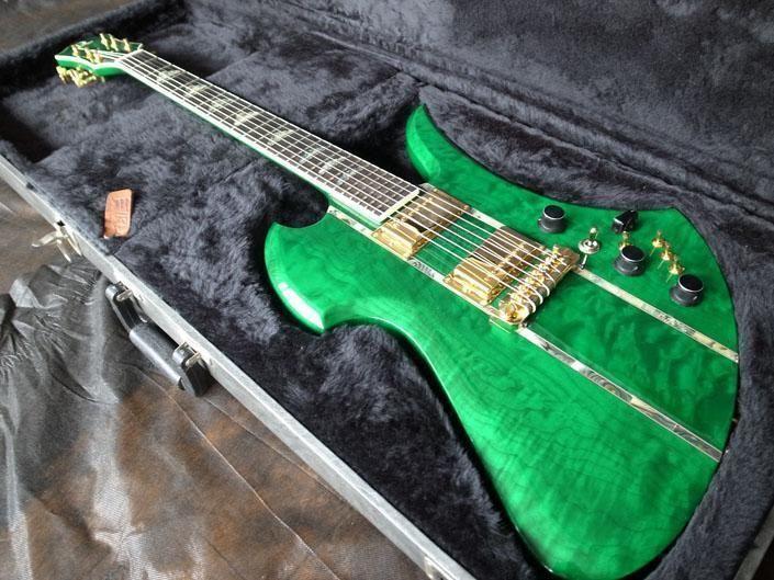 B C Rich Usa Mockingbird Supreme Green Flame Namm Displey ギター