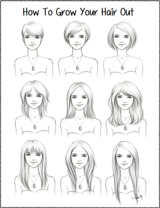 Hairstyle A 5 3 Perspective Growing Out Short Hair Styles Growing Out Hair How To Draw Hair