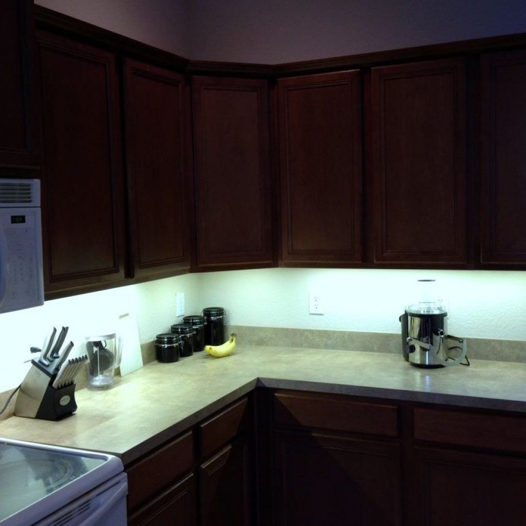 Led Strip Under Cabinet Light Kit Pertaining To Cozy Home