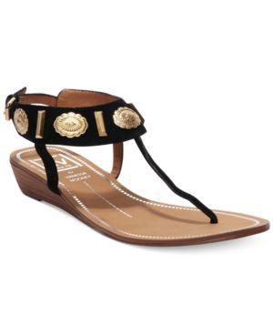 c517cd6c227 Dv by Dolce Vita Austyn Demi Wedge Thong Sandals Women s Shoes  (888377021428) Dramatic gold-tone details will add glamour to your summer  styles.