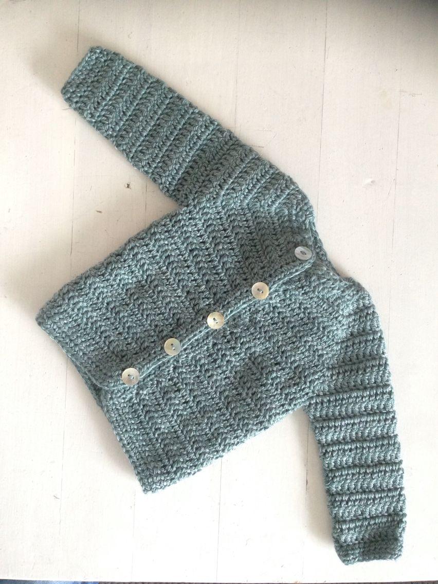 bf10c927 Heklet jakke 1-3 mnd / Crochet baby jacket 1-3 months #heklet ...