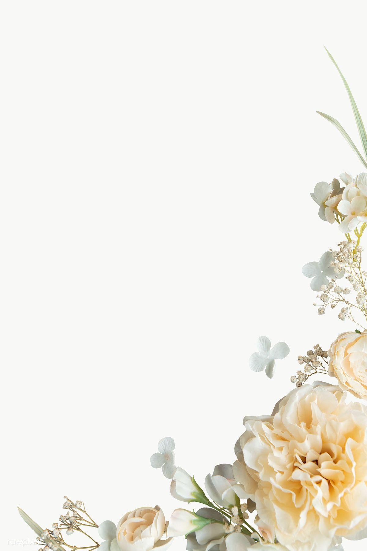 Light Yellow Peonies Pattern Transparent Png Premium Image By Rawpixel Com Nam White Flower Png Yellow Peonies Flower Logo Design