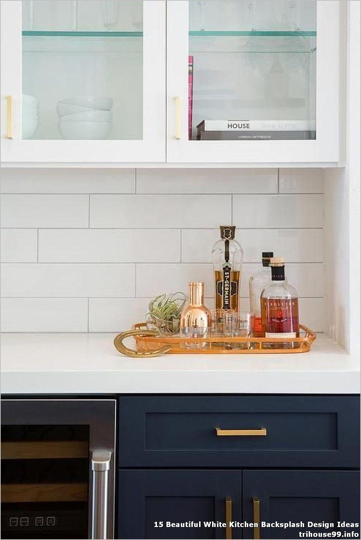 15 Beautiful White Kitchen Backsplash Design Ideas Kitchen Remodel Kitchen Tiles Kitchen Tiles Backsplash