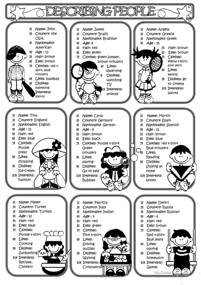 Describing People 2 Aulas De Ingles Atividades Aulas