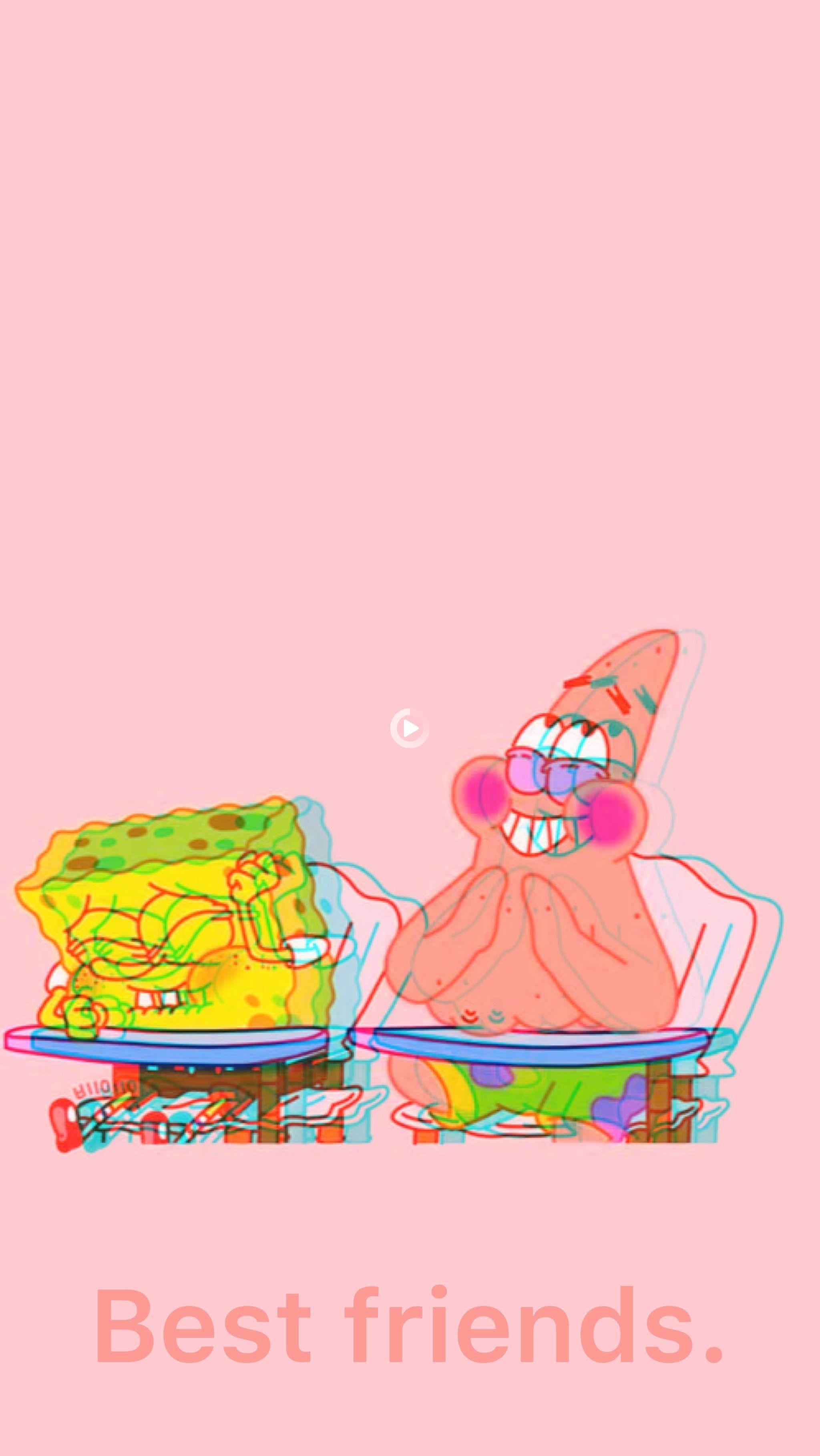 Best Friends In 2021 Spongebob Iphone Wallpaper Spongebob Wallpaper Cartoon Wallpaper Iphone