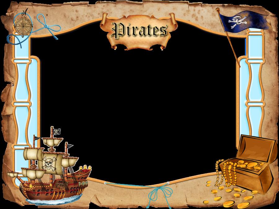 Открытка на пиратскую тему, для