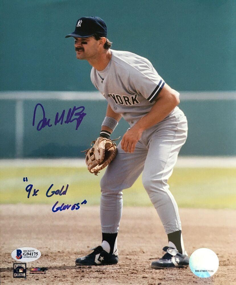 Don Mattingly Signed Auto Autographed 8x10 Photo W Inscription 9x Gold Gloves Ebay Don Mattingly 8x10 Photo Autograph