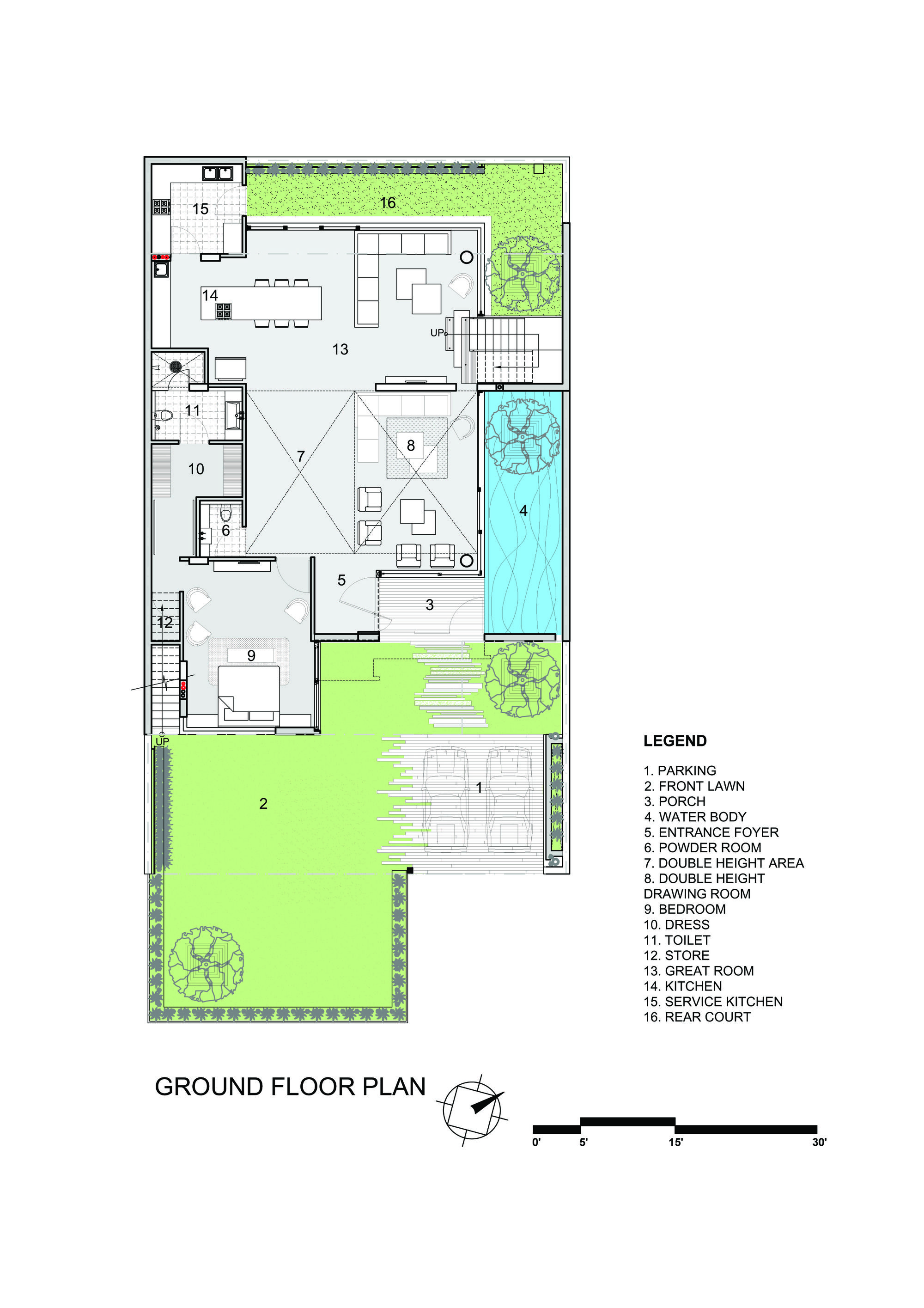 Residence 913 Charged Voids Ground Floor Plan Floor Plans How To Plan