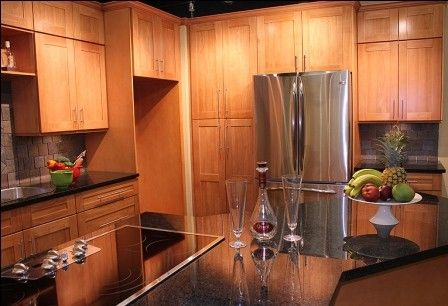 honey maple kitchen cabinets. DKBC Honey Solid Wood Birch Cambridge Steel Gray Kitchen Bath Cabinet, Maple Cabinet / Bathroom At Wholesale Price Cabinets