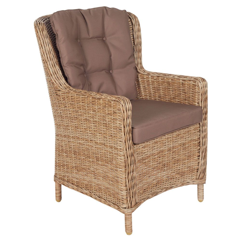 Cane chairs with cushions - Wicker