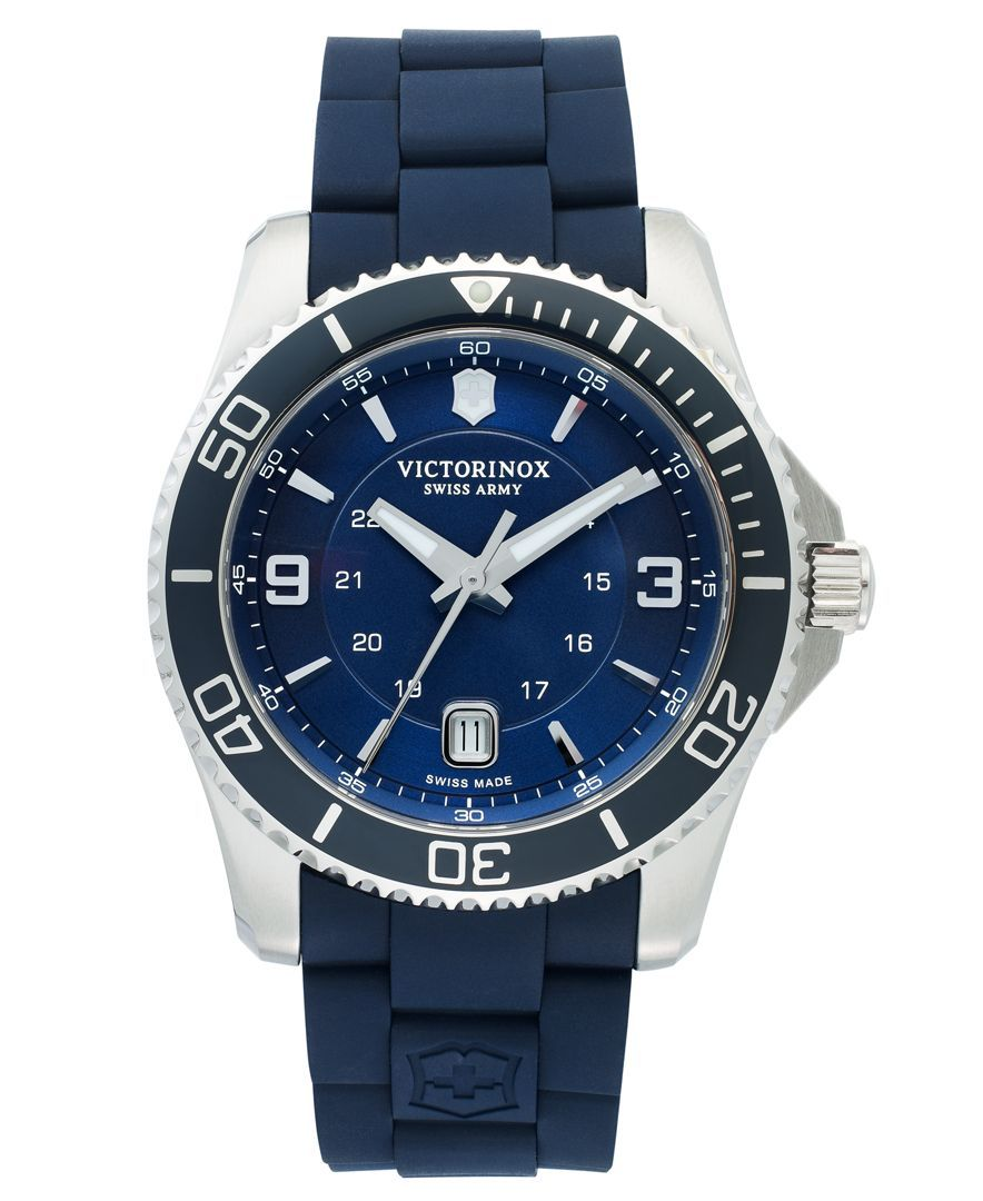 victorinox swiss army watch men s maverick gs blue rubber strap victorinox swiss army watch men s maverick gs blue rubber strap 43mm 241603