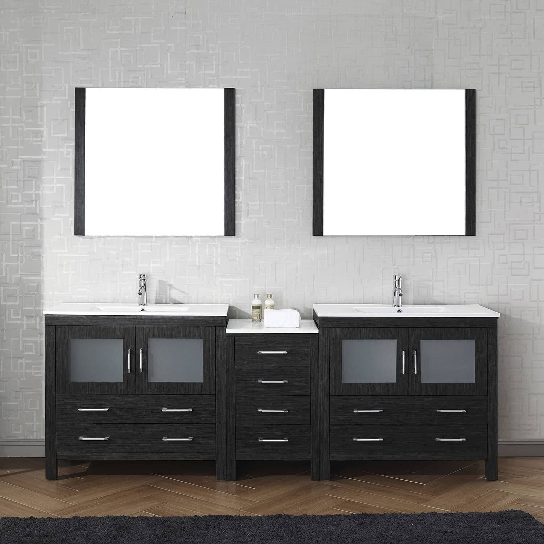 virtu usa dior 90 inch carrara white marble double bathroom vanity rh pinterest ch