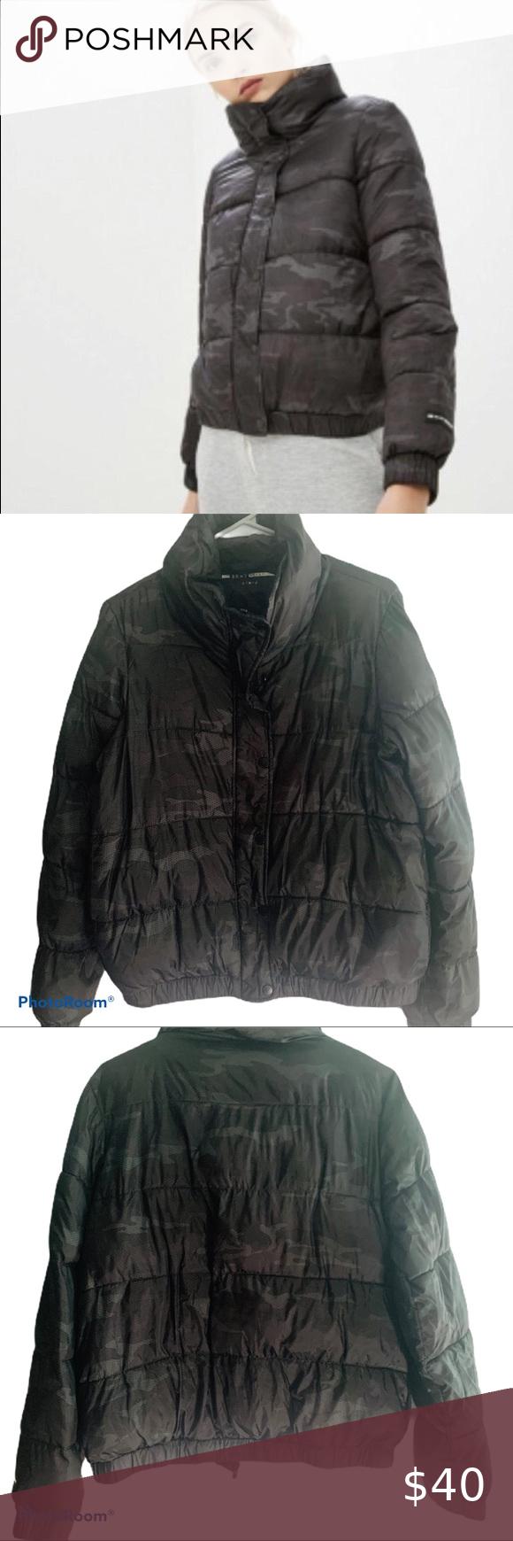 Dkny Sport Bomber Jacket Puffer Coat With Fur Vintage High Waisted Shorts Coats Jackets Women [ 1740 x 580 Pixel ]