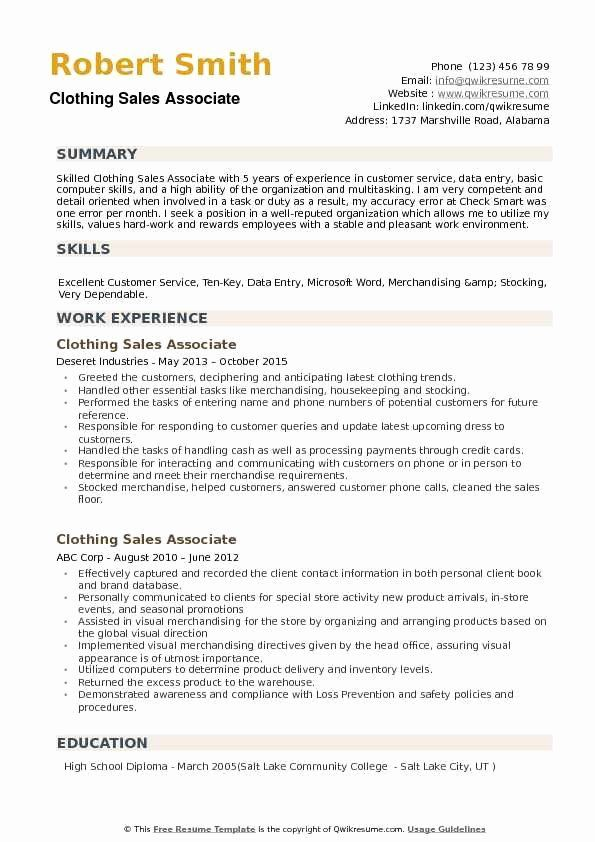 23 Sales Associate Resume Example In 2020 Job Resume Examples Resume Examples Sales Resume Examples