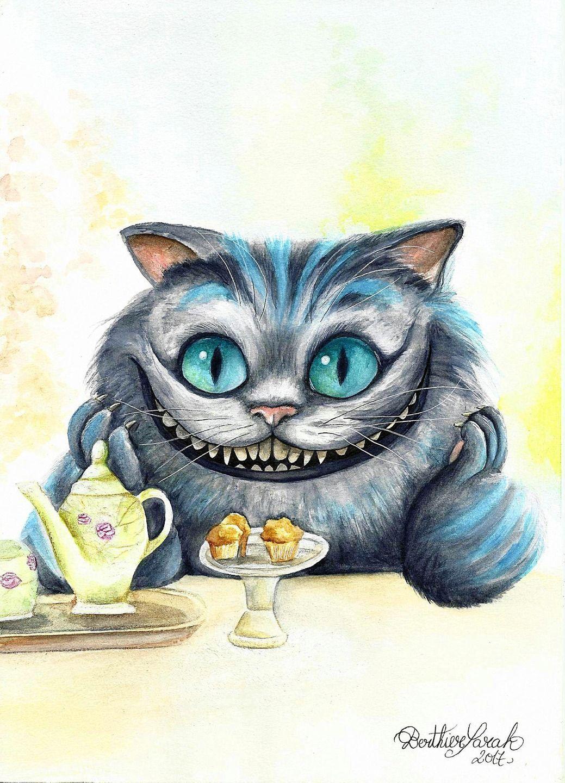 Chat Alice Aux Pays Des Merveilles : alice, merveilles, Aquarelle,, Alice, Merveilles,,