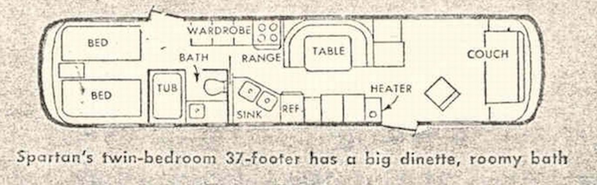 Floor Plan Close To The Spartan I Grew Up In Spartan Trailer Rv Floor Plans Trailer Life