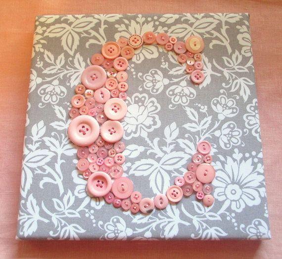 Baby Nursery Letter Art Button Letter C par letterperfectdesigns ...