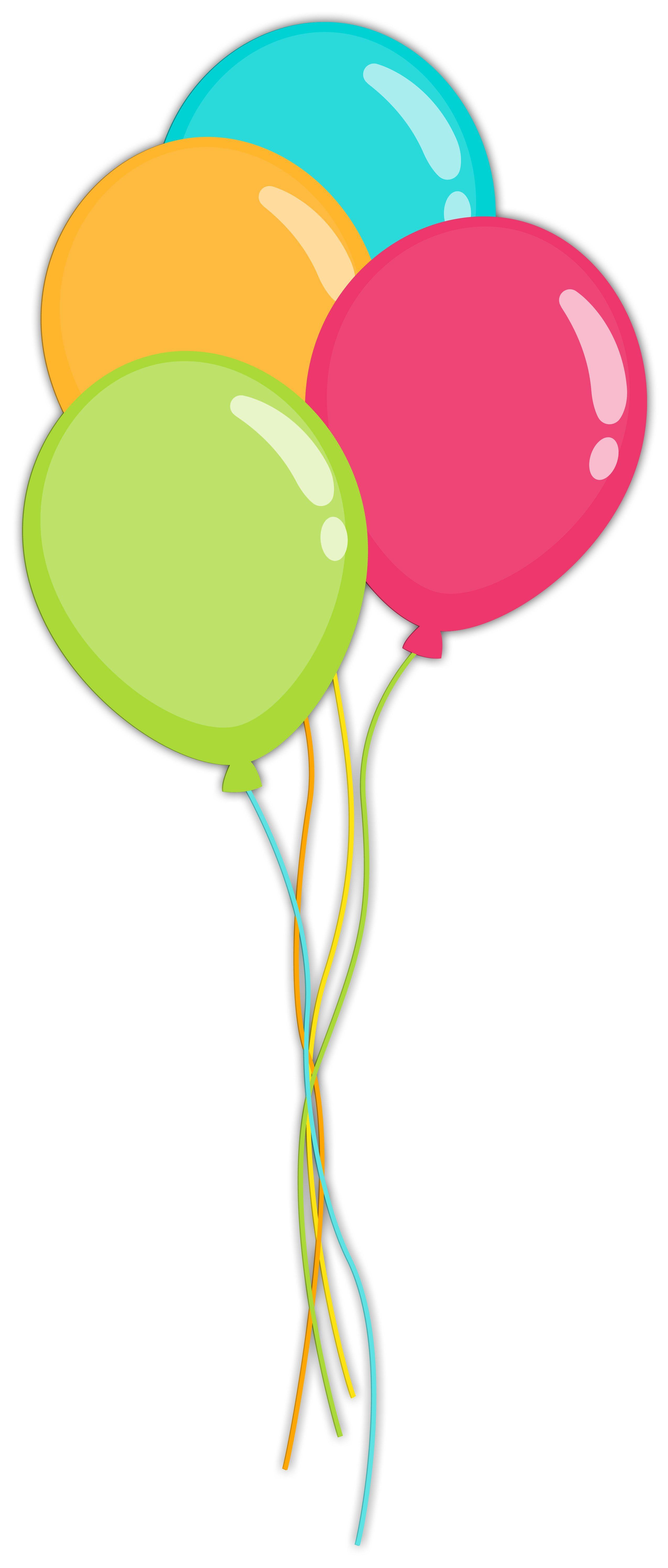 balloons clip art [ 2549 x 5981 Pixel ]