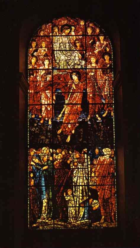Burne-Jones Gothic glass ....Rich and Etherial Bohemian