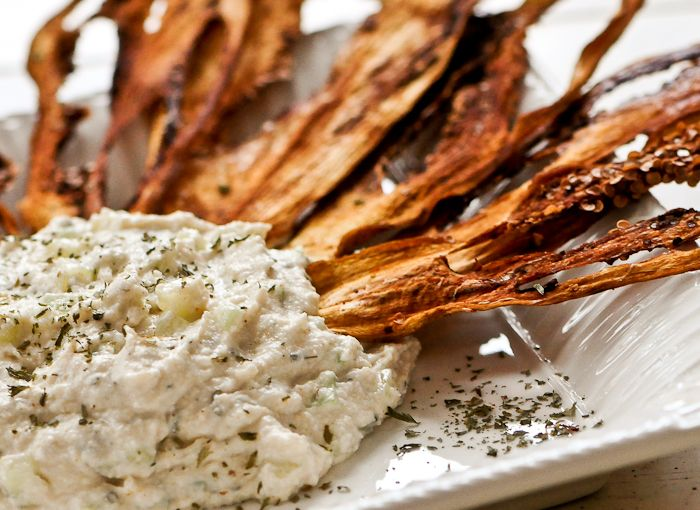 Organic Dehydrated Eggplant Chips with Cucumber Dip « Jenn-Fit Blog – Healthy Exercise | Healthy Food | Healthy Living