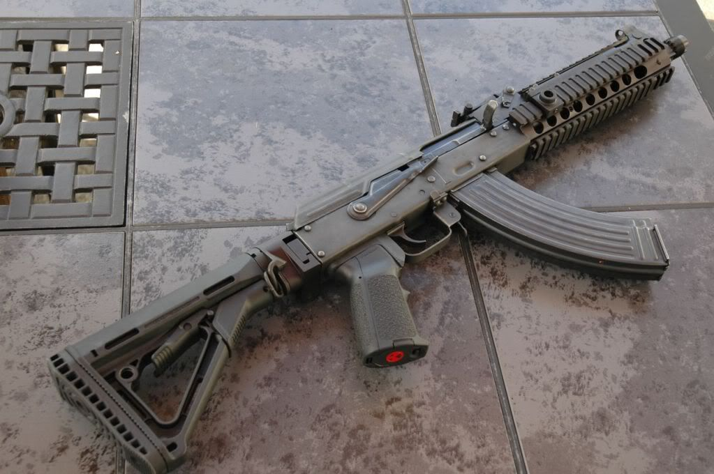 AK variant with tactical rail and collapsible stock | Guns | Guns