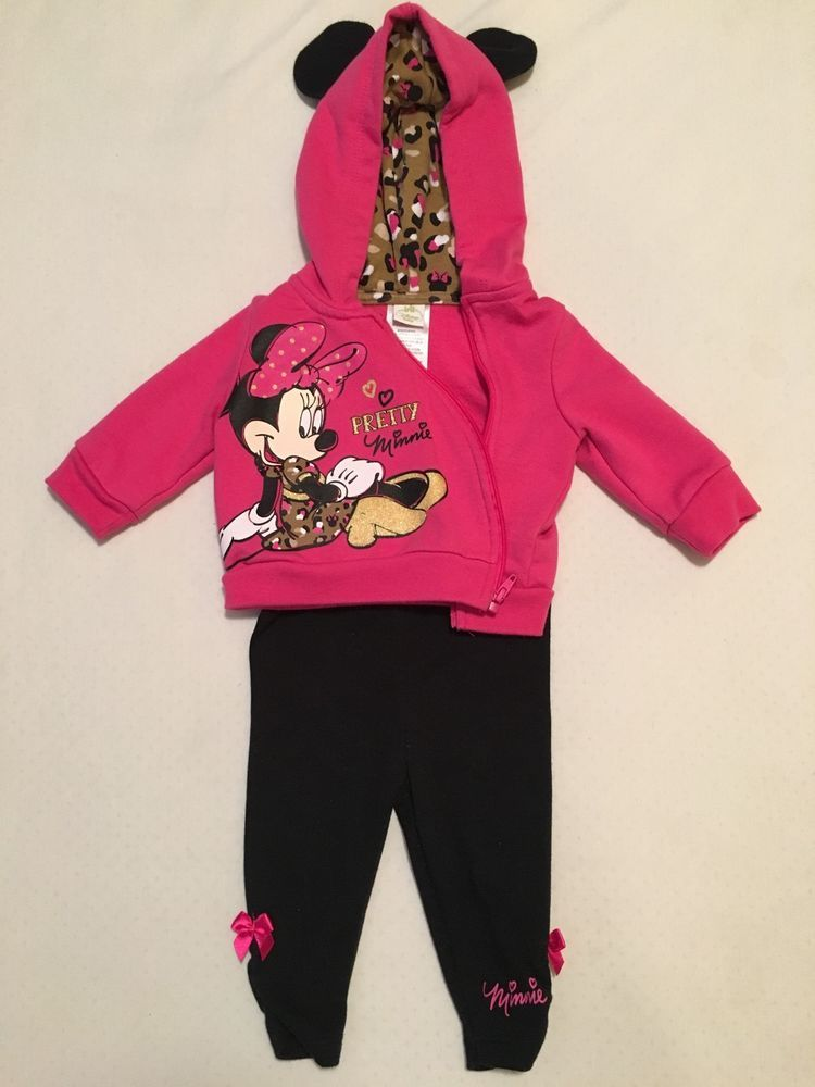 minnie mouse #baby girl two piece jacket and pants set size 0-3 months from $7.5