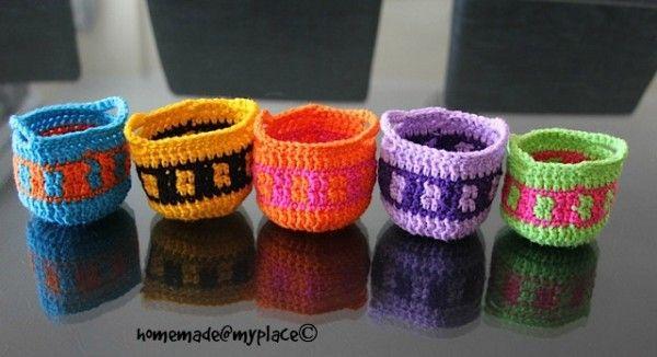 tapestry crochet basket free pattern | crochet | Pinterest | Canastilla