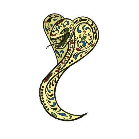 Sugar Skull Snake Decal [014]