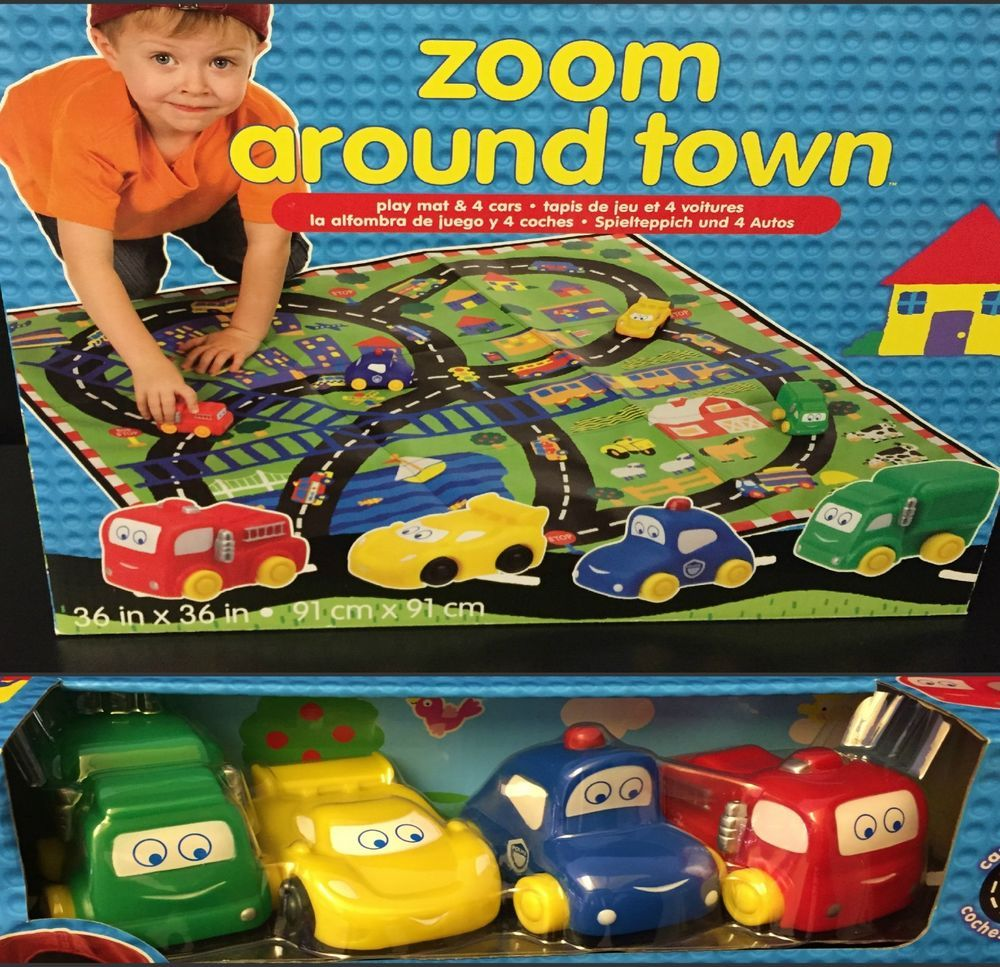 Cars 4 toys  Zoom Around Town Alex Toys Early Learning Mat with  cars AlexToys