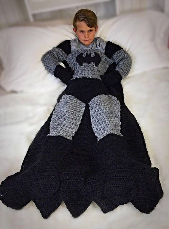 Batman and Superman Crochet Blanket PATTERNS | Knitting,sewing ...