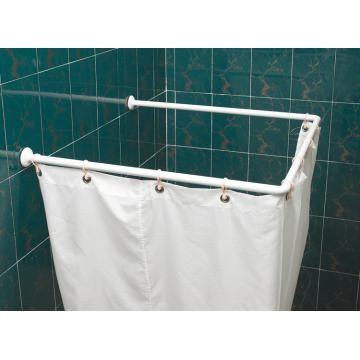 u shaped shower curtain rods decor