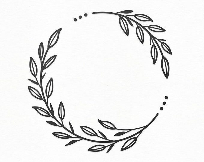 Photo of Flower Wreath SVG Craft Pattern, Floral Frame SVG, Flower SVG, Wreath Clipart, Silhouette Cut Files, Cricut Cut Files / FT00136