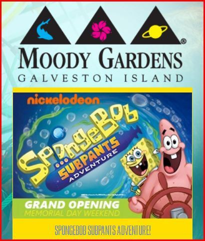 Lovely Moody Gardens Coupon 2015 New SpongeBob Subpants Adventure Opens Memorial  Day Weekend.