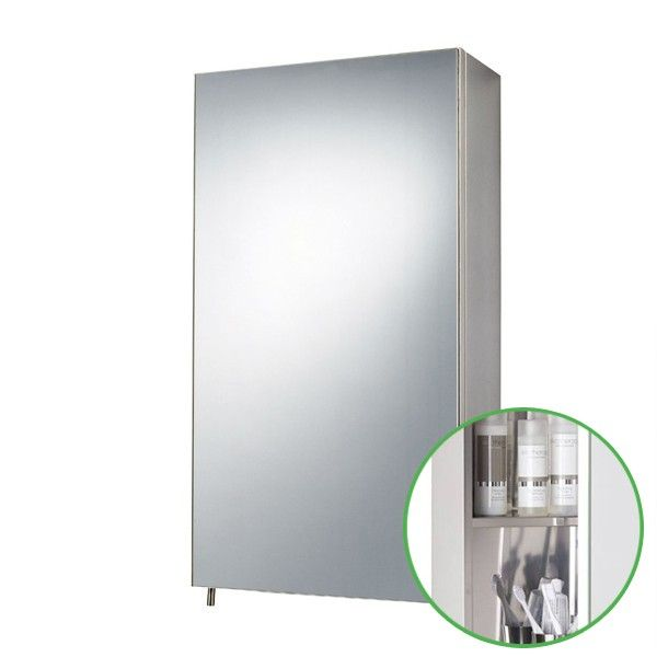 Zenith Stainless Steel Bathroom Cabinet Single Mirror Door ...