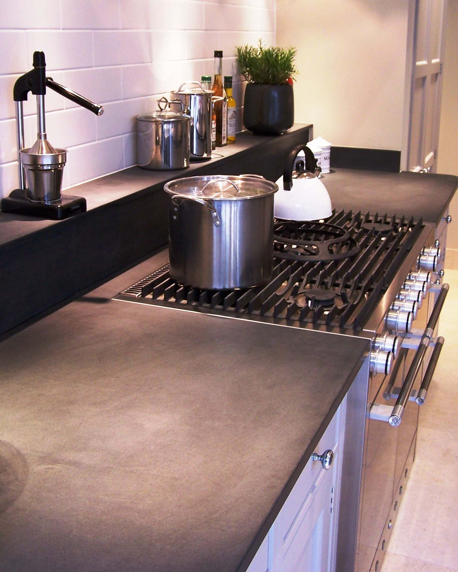 This Honed Nero Assoluto Granite Supplied By Worktopenvy Com
