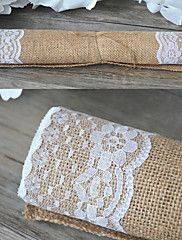 Width+30cm+Length+180cm+Natural+Vintage+Burlap+Lace+Hessian+Table+Runner+Wedding+Party+Decoration+Jute+Table+Runners+–+USD+$+19.98