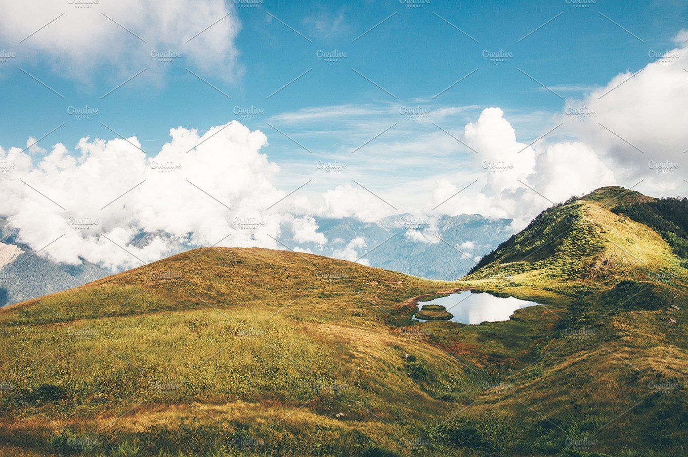 Lake And Mountains Clouds Landscape Summer Landscape Nature Photos Scenic