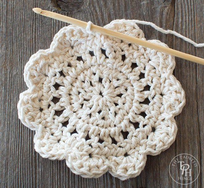 Farmhouse Style Coasters Free Crochet Pattern | Crafts | Pinterest ...