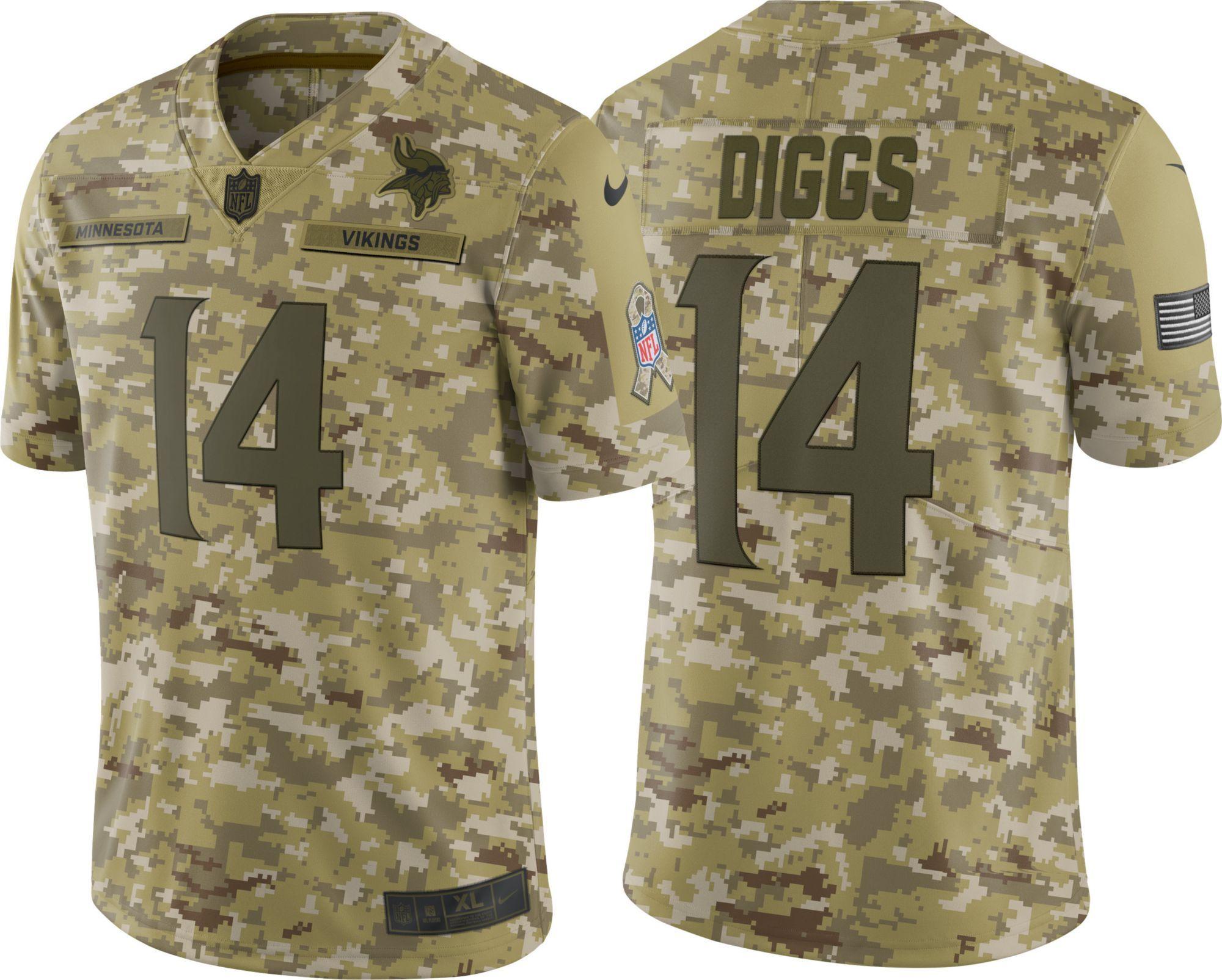 promo code 20647 0742d Nike Men's Salute to Service Minnesota Vikings Stefon Diggs ...
