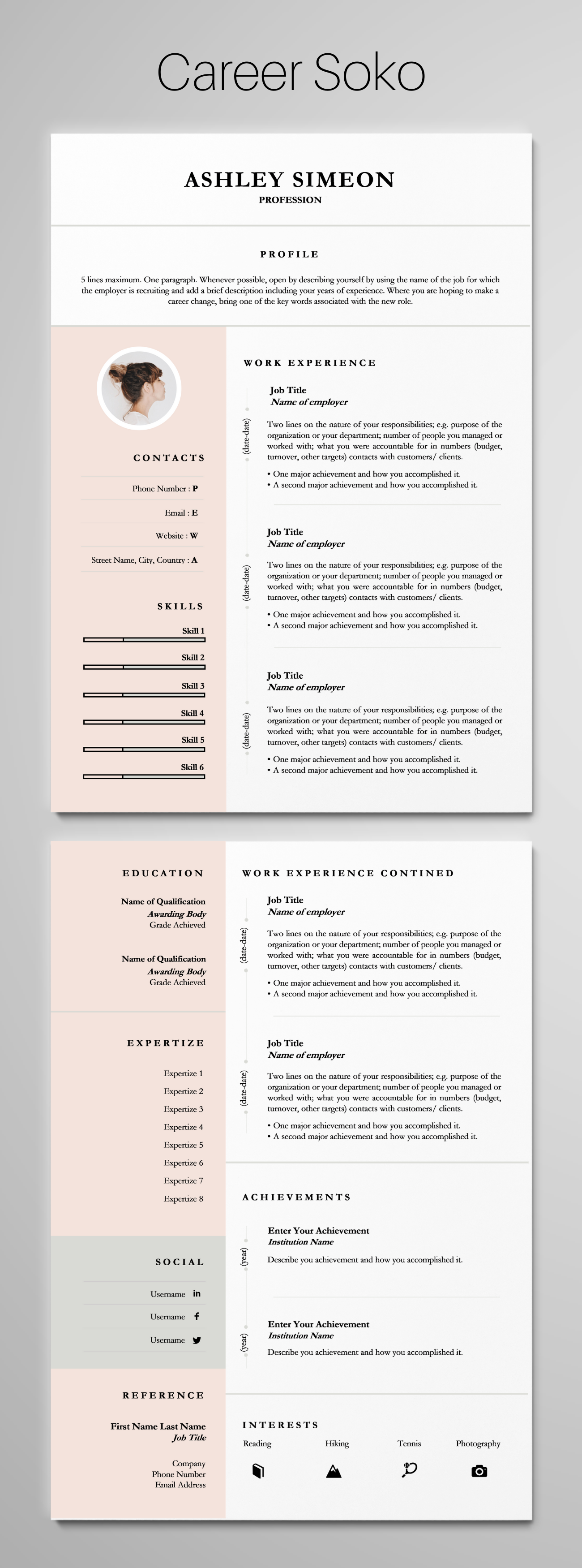 resume template word cv curriculum vitae 2 page career objective for manufacturing engineer sample format pdf download free best document