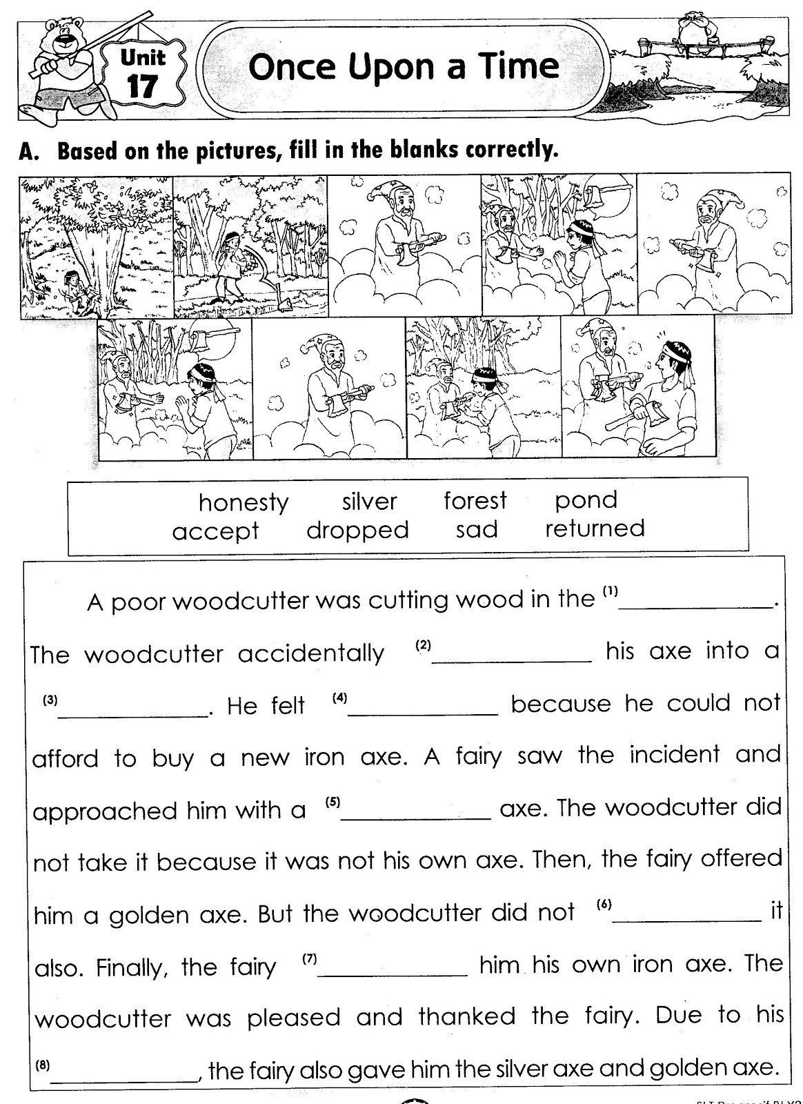 Kindergarten Reading Comprehension Worksheets In
