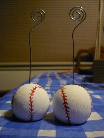 Diy Wedding Challenge 2010 Baseball Placecard Holders In