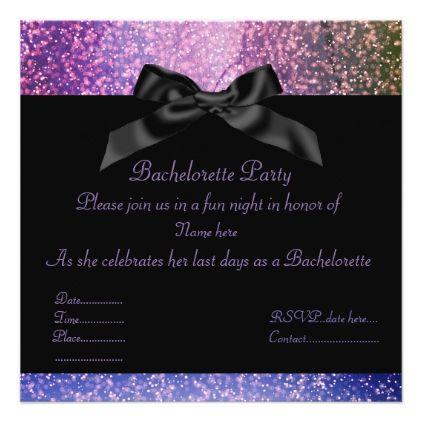 Galaxy Purple Sparkle Party Invitation Elegant Gifts Invitations