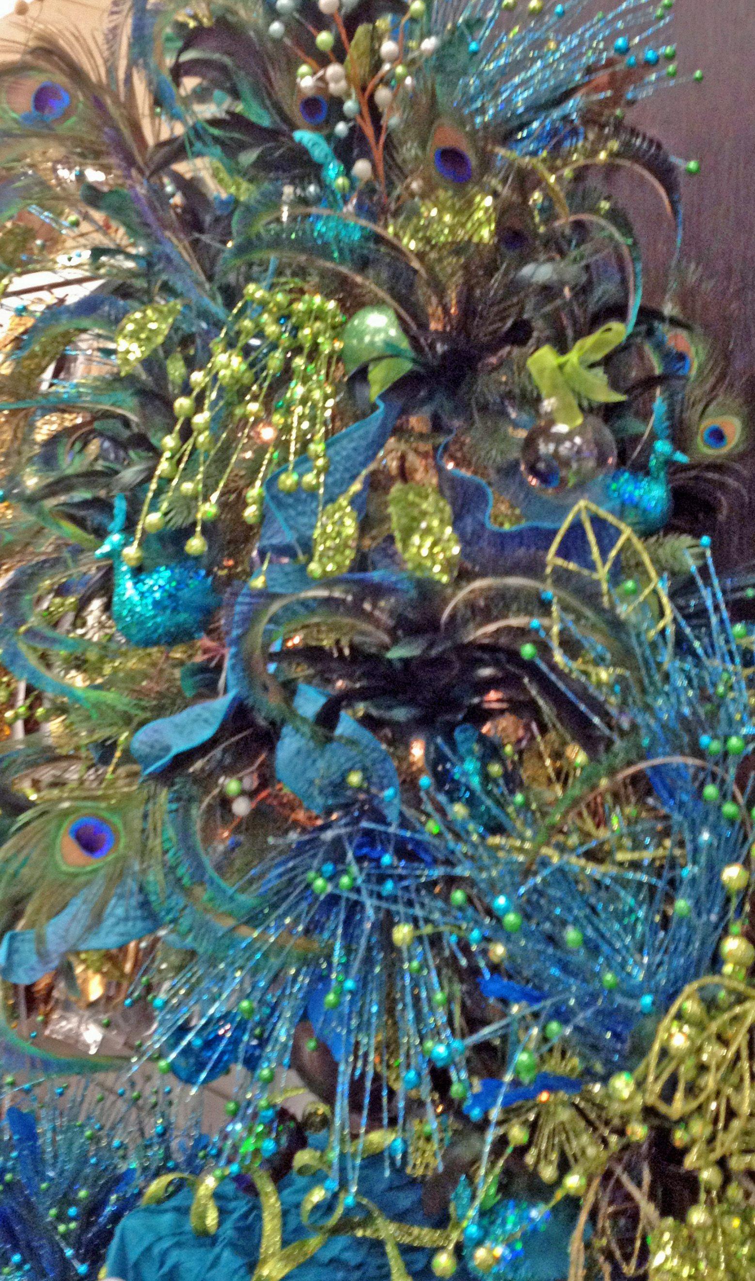 Peacock Tree Christmas Decor Pinterest Christmas