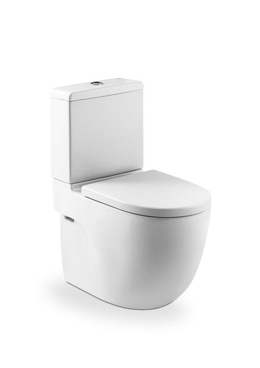 Lavabo Meridian Compacto.Inodoro Compacto Adosado A Pared Con Salida Dual Cisterna Y