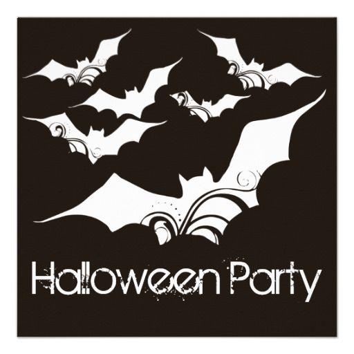 Flying Bats Halloween Party Invitation 3